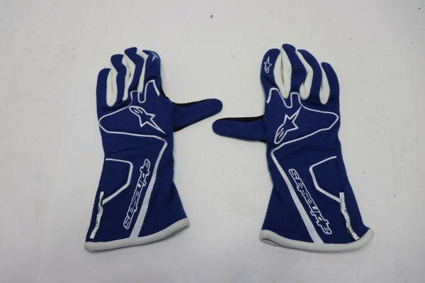 ALPINESTARS GLOVES Tech 1 Race Nomex Blue / White FIA SFI