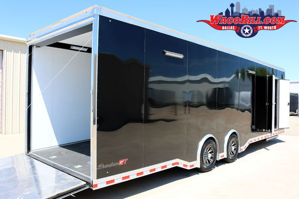 30' Pace Shadow GT X-Height Race Trailer Wacobill.com