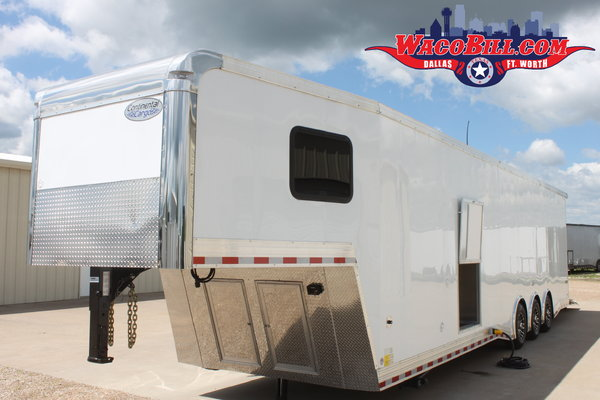 40' Bathroom/Shower Package Race Trailer Wacobill.com