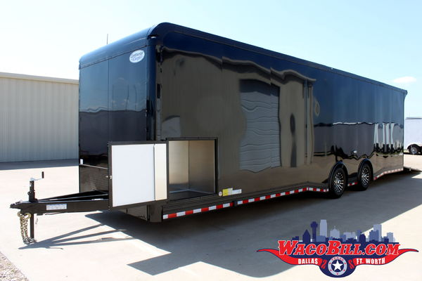 32' Blackout Race Trailer +18in. X-Height! Wacobill.com