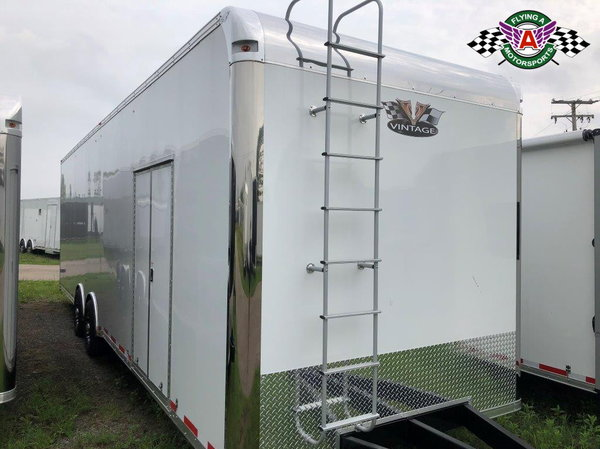 2019 Vintage 30' Pro Stock Race Trailer with Ramp Overs
