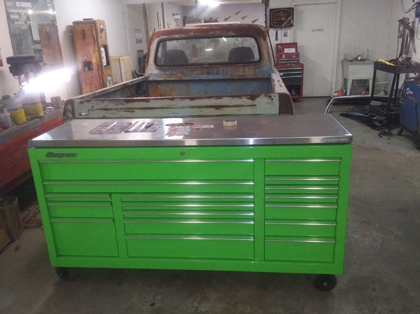 """Snap On Extreme Green 73"""" Classic Series..17 drawer too  for Sale $3,750"""