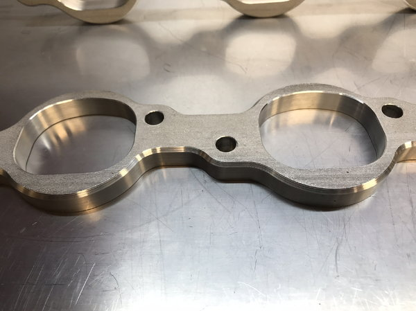 """BBC Stainless 1/2"""" thick CNC header flanges  for Sale $250"""