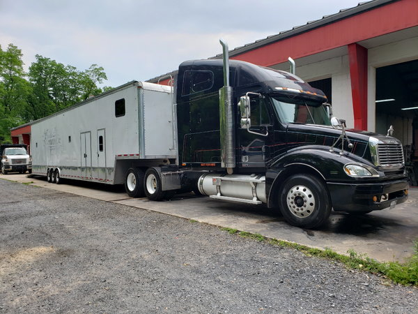 freightliner  and 50 ft stacker