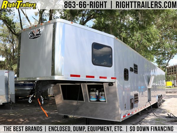 2021- Vintage 50' Living Quarters Trailer - Full