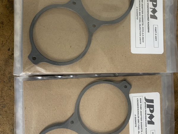 Adapter gaskets for 2.9 Crower/Kinsler  for Sale $30