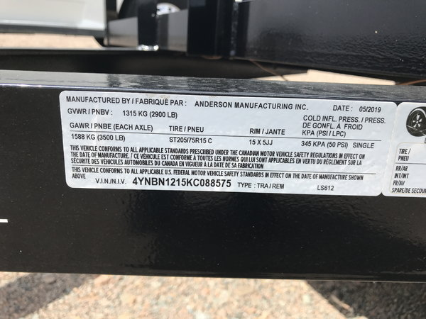 2019 Anderson LS 6x12  for Sale $1,649