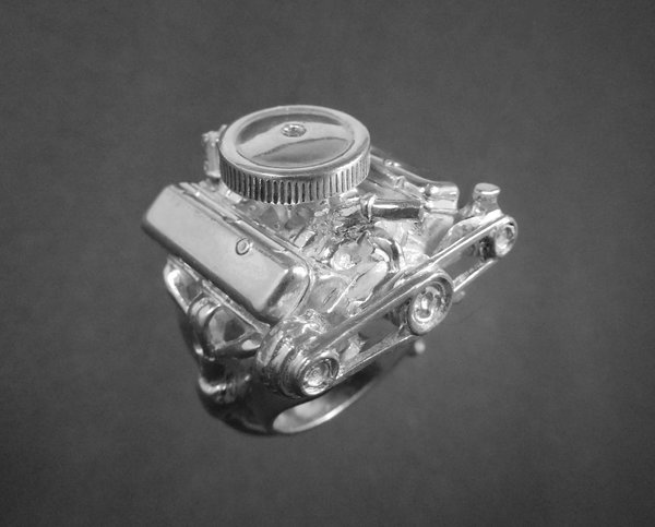 STERLING SILVER-ENGINERING  (92.5) 396 BIG BLOCK  for Sale $324.99
