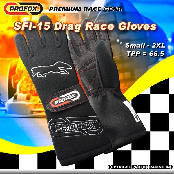 PROFOX SFI-15 DRAG RACING GLOVES  for Sale $189