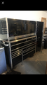 Snap On roll cart with hutch and side cabinet