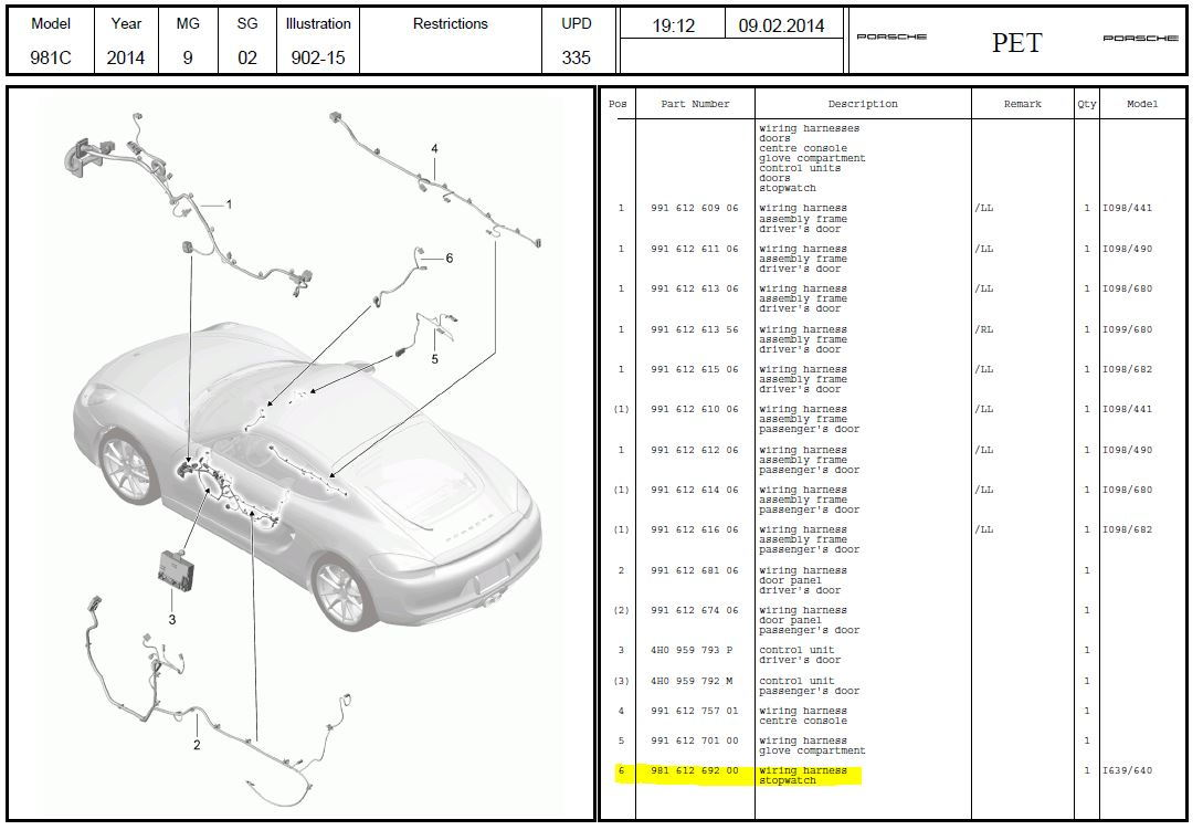 Porsche Macan Wiring Harness Installation Instructions