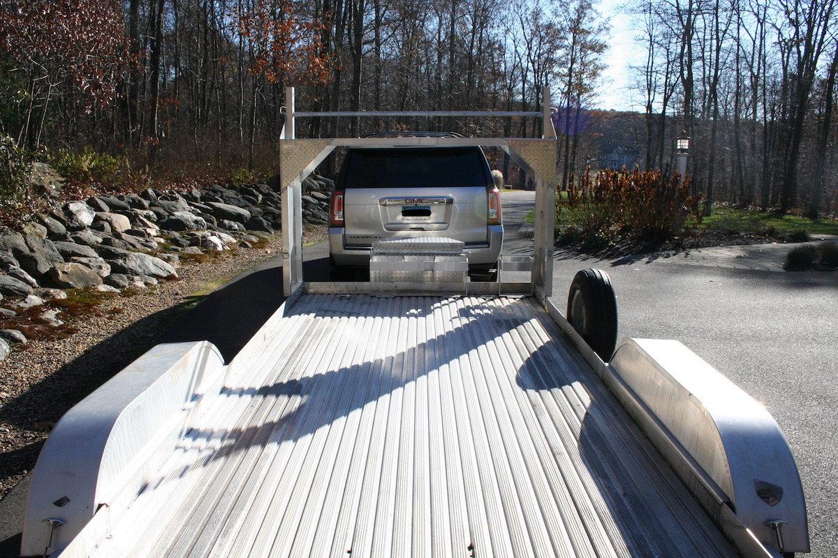 featherlite   open car trailer wtire rack rennlist porsche discussion forums