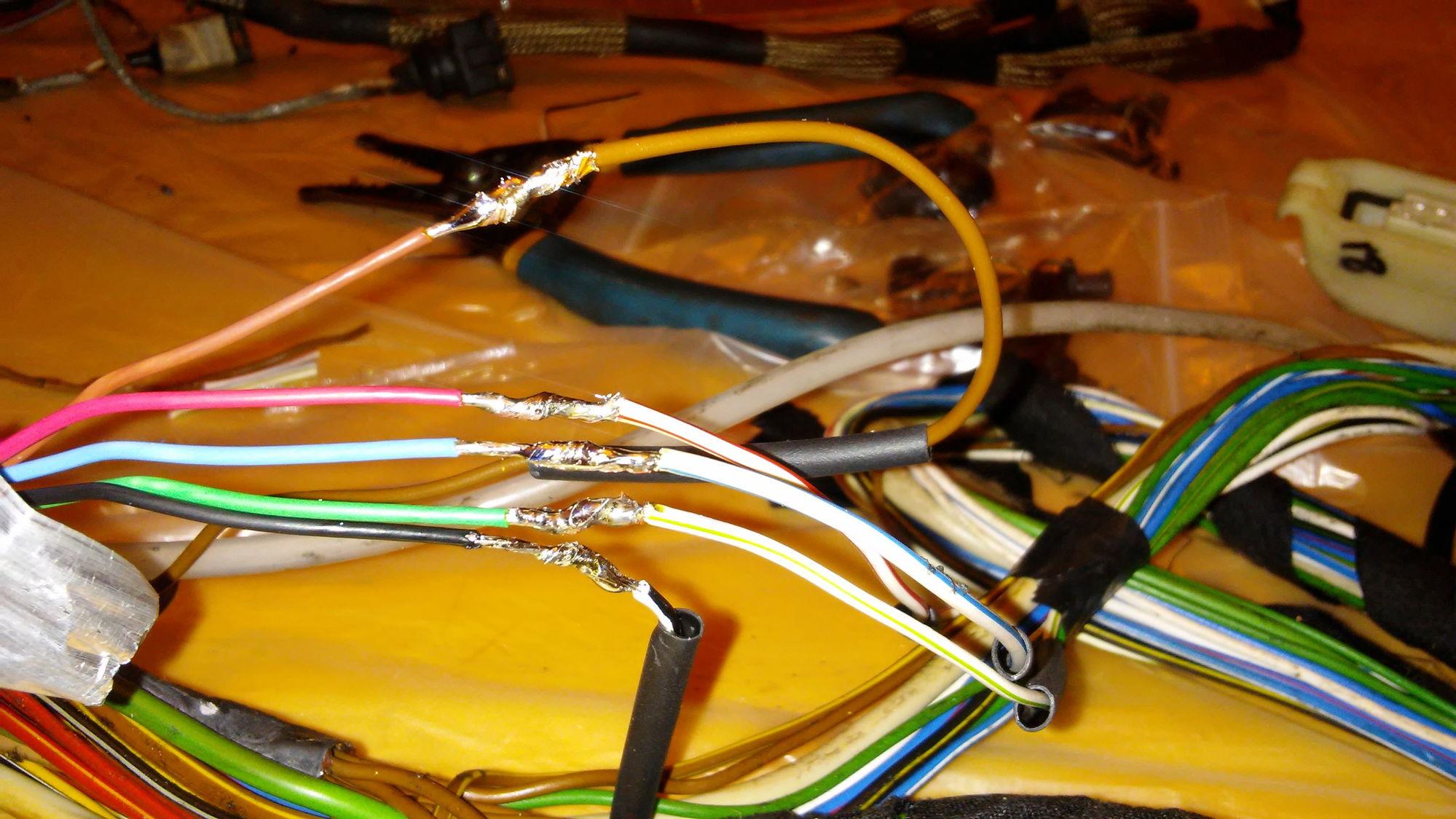wire harness rebuild rennlist porsche discussion forums rh rennlist com Vehicle Wiring Harness Car Wiring Harness