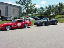 Riley Motorsports PCA show...our toys gathered much attention....