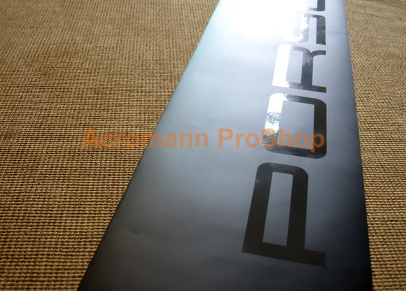 WINDOW VISOR IN MATTE BLACK WITH GLOSS BLACK PORSCHE LOGOTEXT