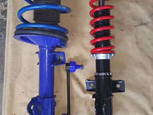 Front Pedder's Coil-Over compared to Roush Stage 2 strut and coil system.