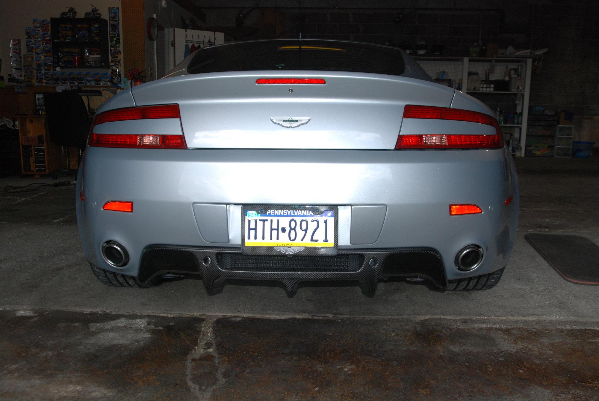 Vantage V8 Carbon Fiber Rear Diffuser Installation 6speedonline Porsche Forum And Luxury Car Resource