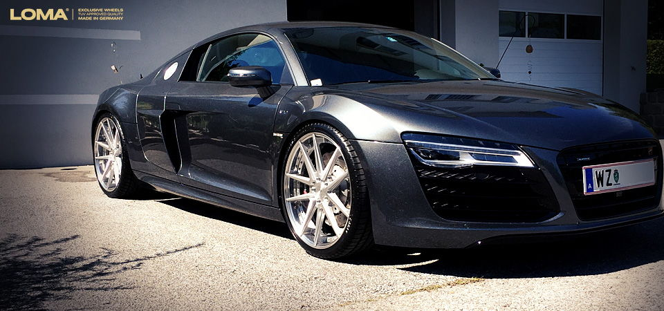 Custom forged wheels for the audi r8 v10 by loma wheels exclusive tuning wheels for the audi r8 v10 by loma wheels publicscrutiny Images