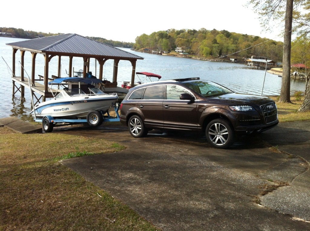 ... backing down a boat ramp the Q7 senses that a trailer is connected (via  the lighting hookup) and changes the brake bias so that the front wheels do  not ...