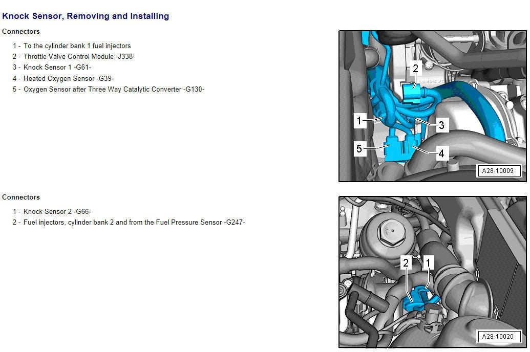 Pls Explain - P0327 Knock Sensor Bank 1 - AudiWorld Forums
