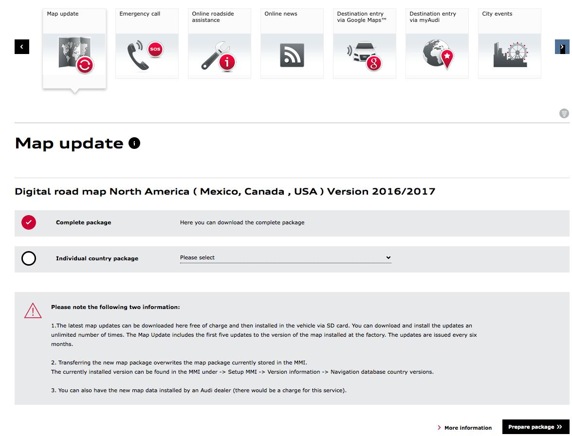 Map update downloader login error?! - AudiWorld Forums