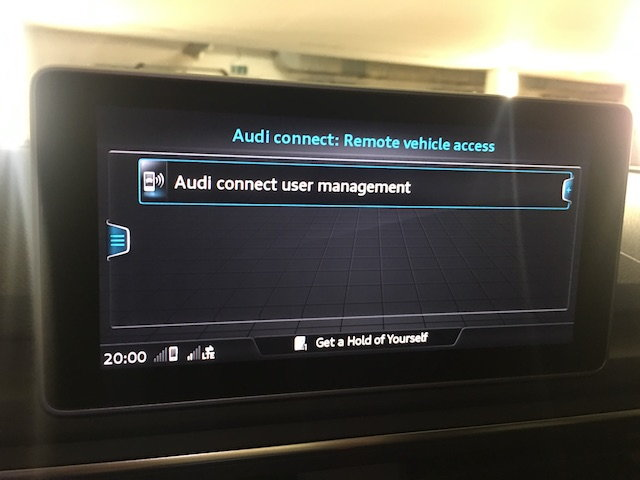 Setting a key user in the vehicle - AudiWorld Forums