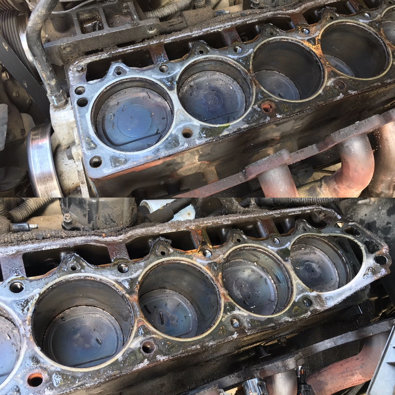 Signs Of A Blown Head Gasket >> 4.0 head rebuild in progress. Lots of question and ...