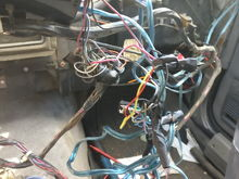The majority here is a terribly botched (but functional) wiring job. I get to undo it and make it right