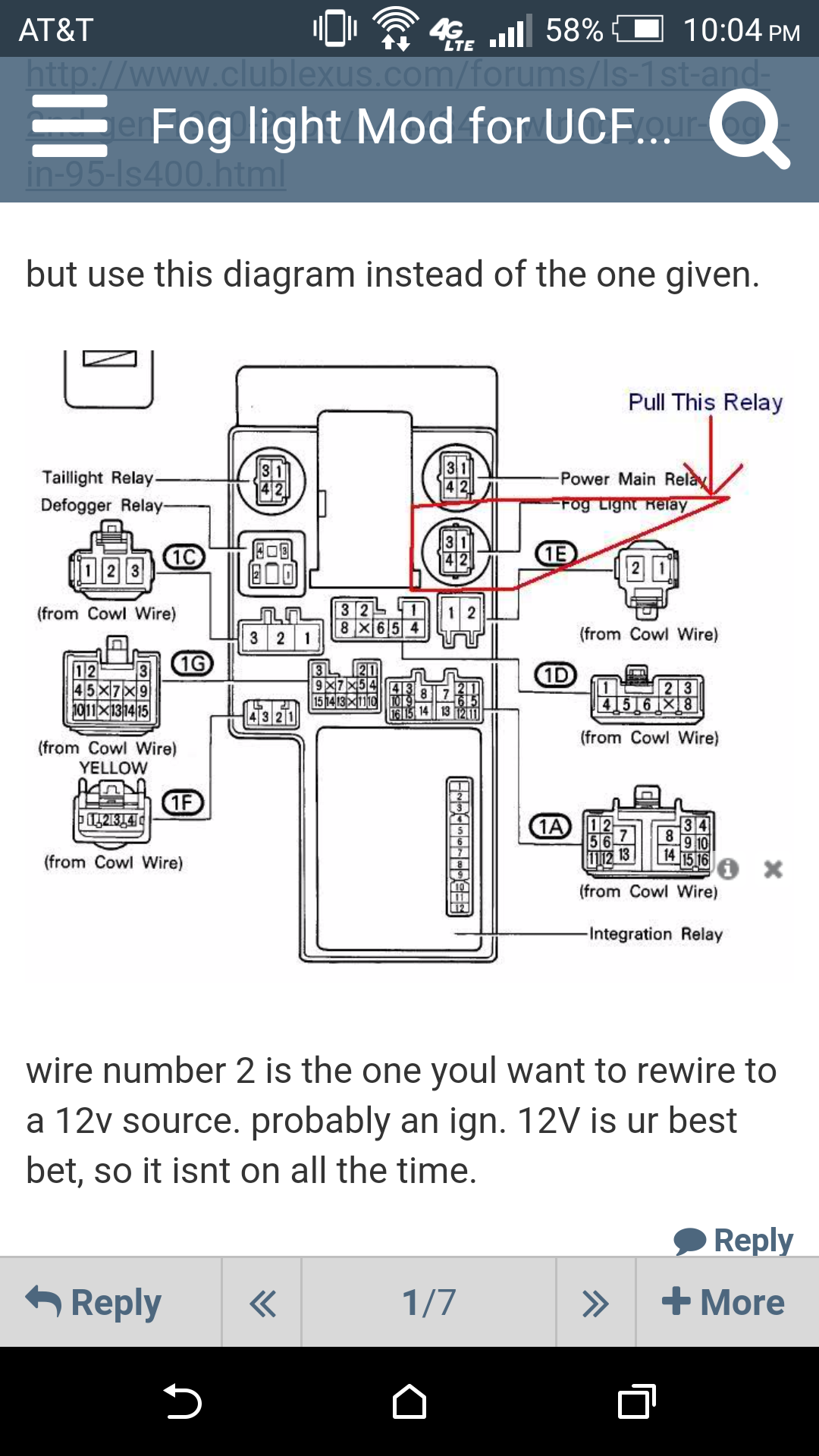 This is the relay you want to pull from the other side of the fuse box in  the driver's footwell. (Put your head by the pedals and look up) The relay  circled ...