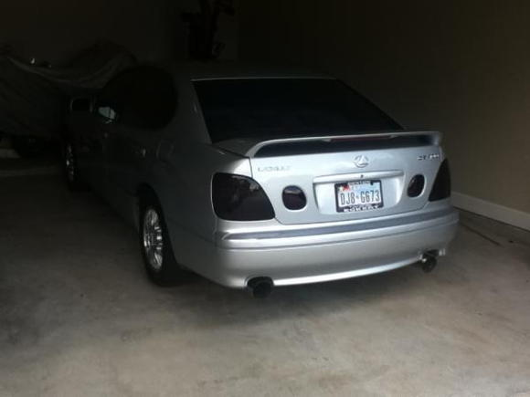 my baby girl in the garage
