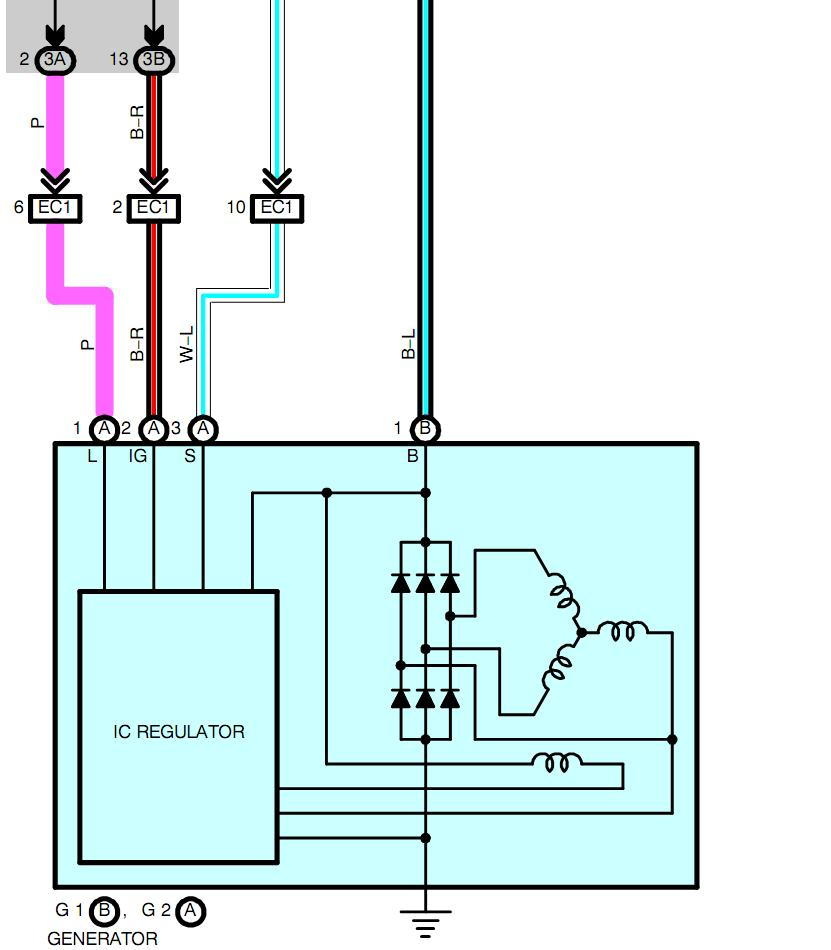 alcor alternator wiring diagram wiring diagram obd1 alternator wire diagram 4