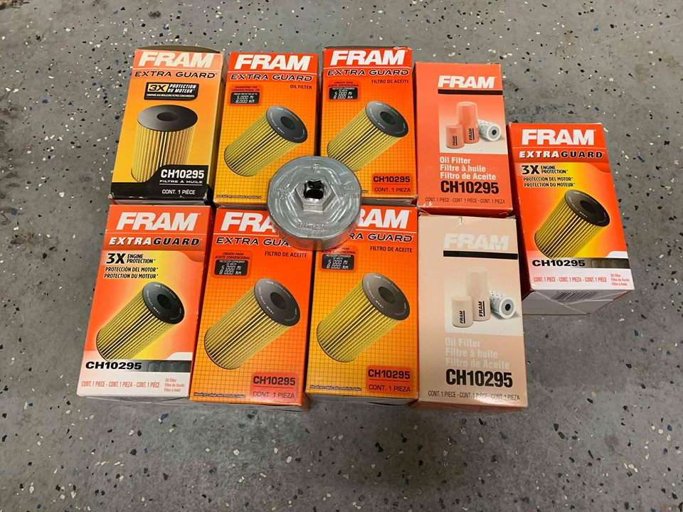 Lot of 9 Oil Filters + tool, Carbon Fiber rear apron spats, AFE Filter