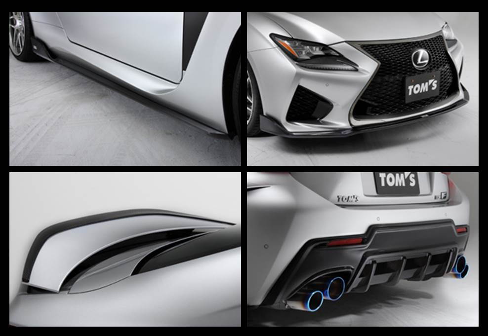 ☰···· NEW TOM'S Racing Aero Parts for the RC F ││ JAPAN PARTS
