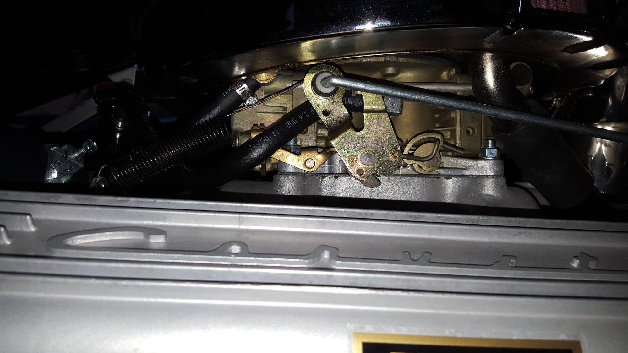 65' 396 Holley Carburetor stuck on wide open throttle :O