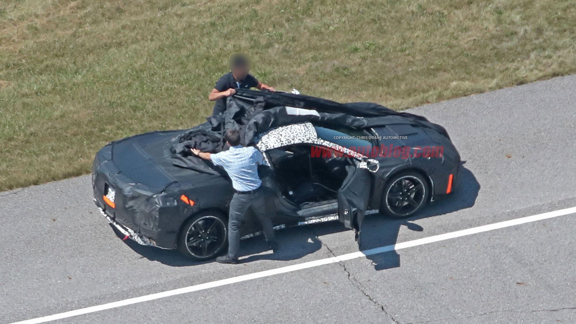 New Spy Photos Show C8 Mid Engine Corvette As Engineers