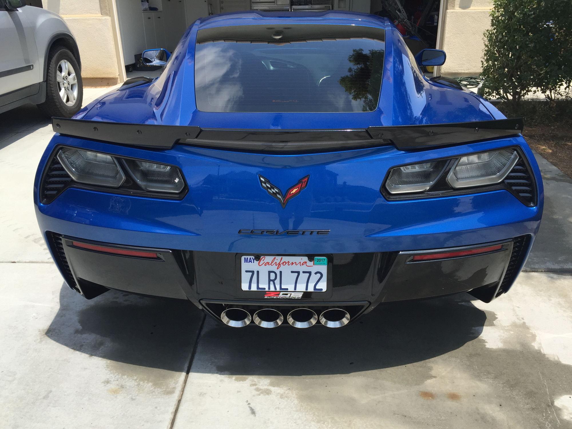 Rear license plate frame - CorvetteForum - Chevrolet Corvette Forum ...