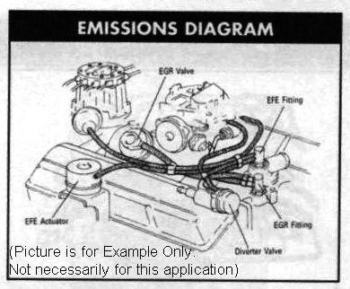 1976 efe actuator to modified headers corvetteforum chevrolet emissions diagram l48 air system