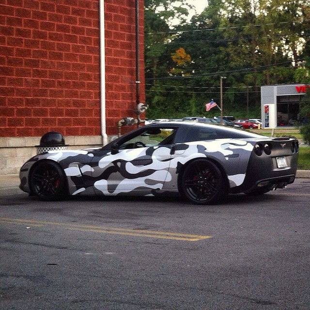 2007 Corvette 3lt 6spd 50k Camo Wrapped Bolt Ons