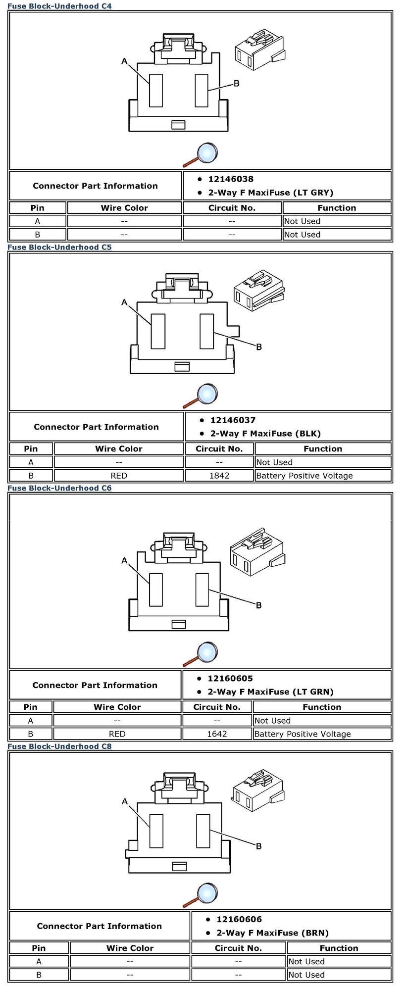 Under Hood Fusebox Wiring Issue Page 2 Corvetteforum Chevrolet C6 Fuse Diagram Underhood Connector C4 C8