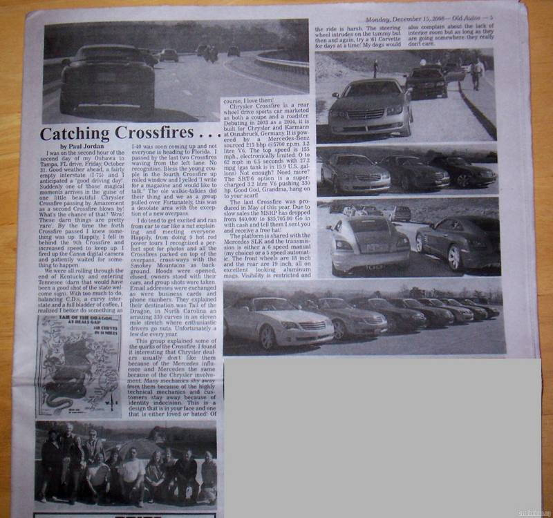 Crossfire Article Published In OLD AUTOS Magazine