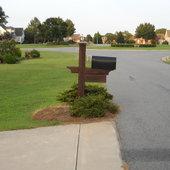 Azalia at mailbox