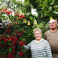 Dorothea and Herbert Langenbuscher in their Gardens