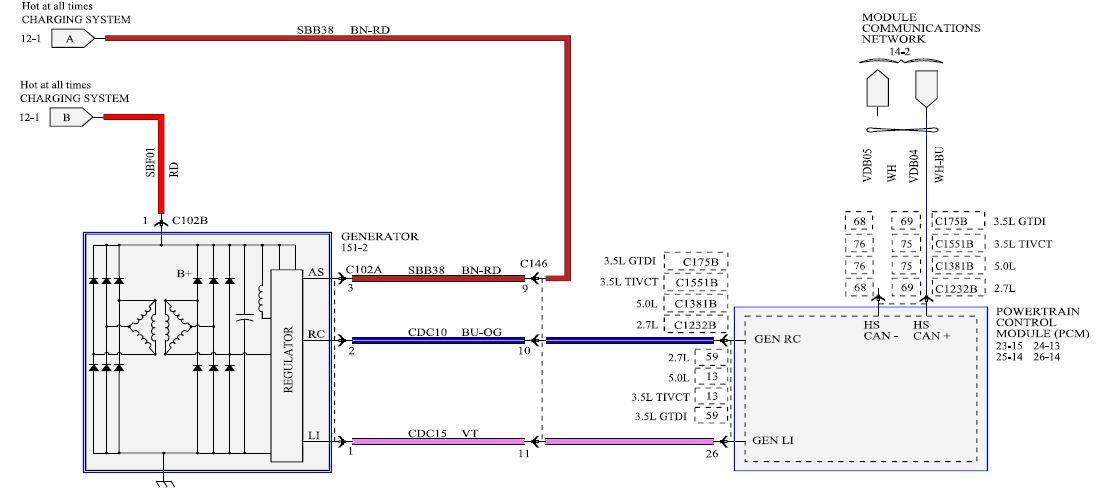 Need A 2016 Xlt V8 Alternator Wiring Diagram