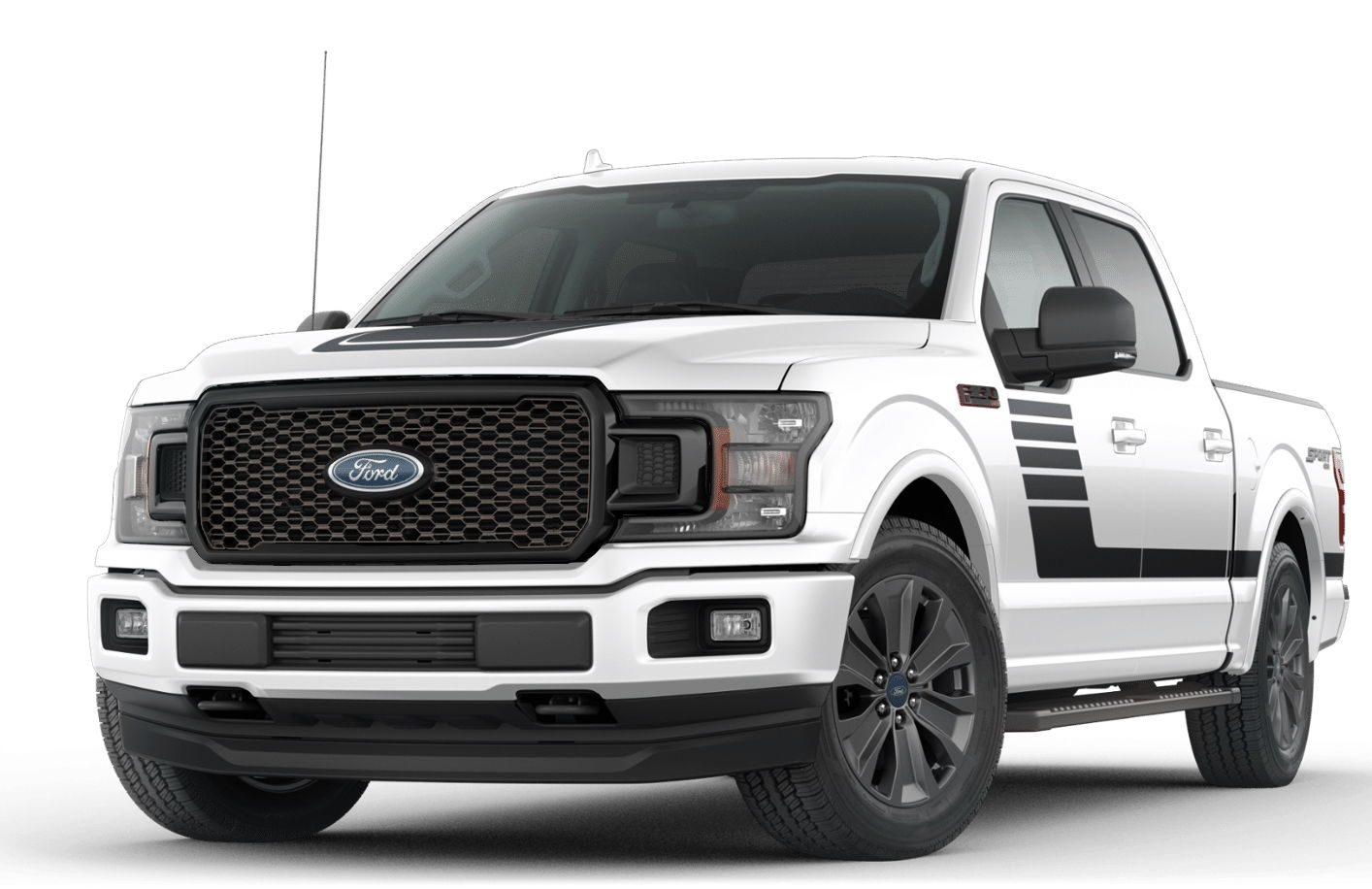 2018 black lariat sport grille on white truck page 2 ford f150 forum community of ford. Black Bedroom Furniture Sets. Home Design Ideas
