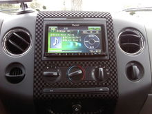 new dash fabricated pieces with the pioneer AVH-P4100