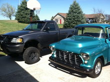 My truck sitting next to the 56
