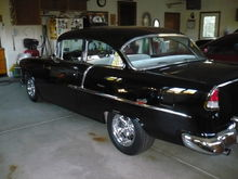 Wifes 55. 383 small block, 514 HP, Tremec 5 speed, Ford 9""