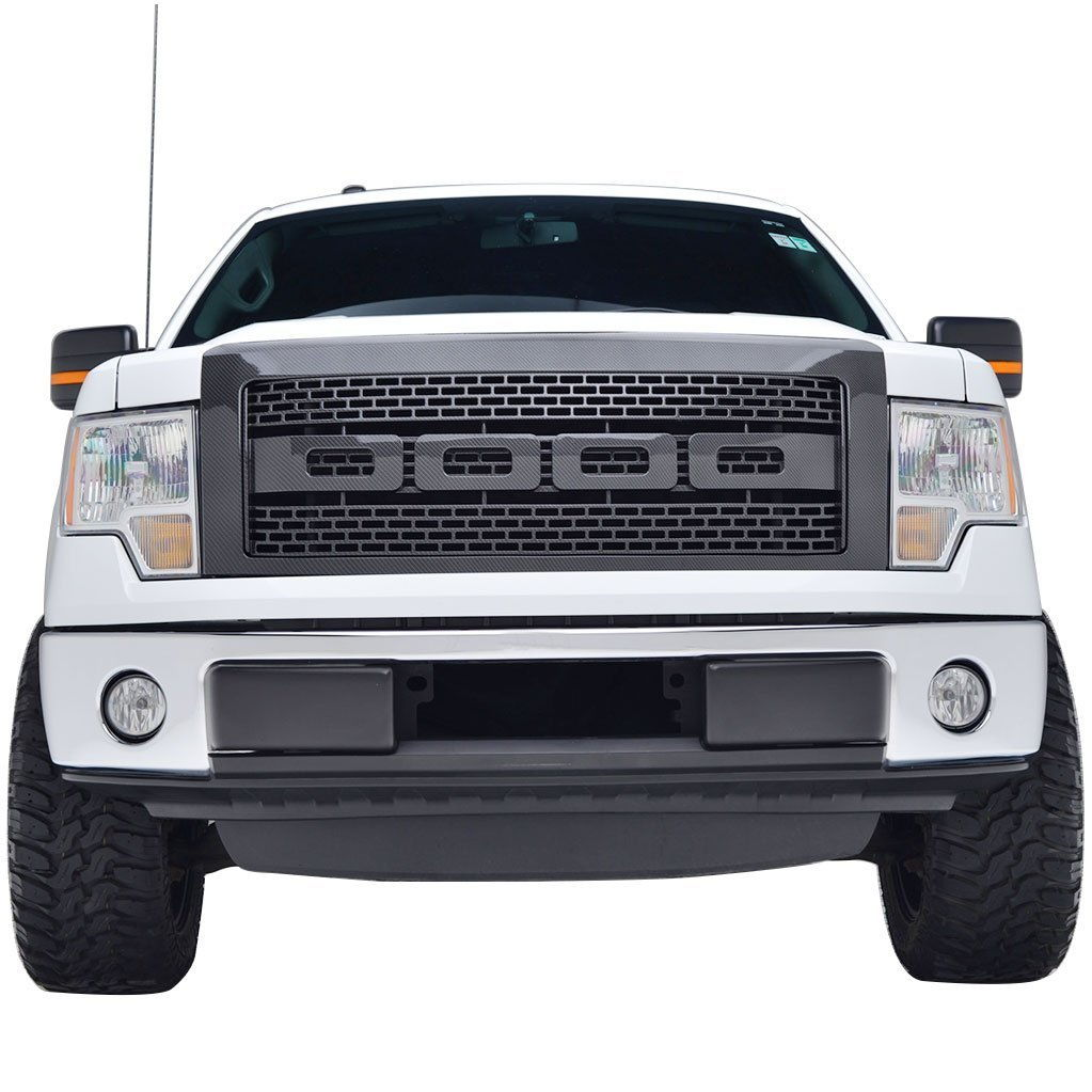 2004 2008 2009 2014 ford f 150 abs black raptor style packaged grille 09 14 shown direct bolt on replacement of original grille