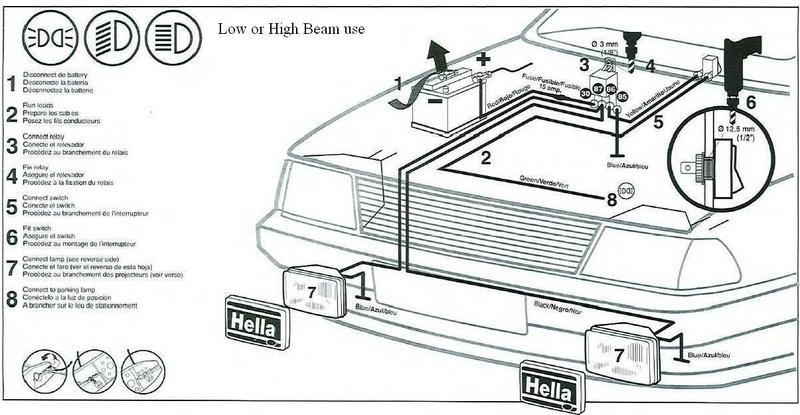 hella fog light wiring instructions