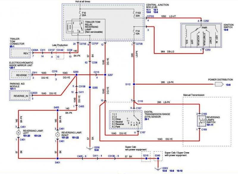 80 2006_backup_light_schematic_fc1932523ff9d90546acd8cca507c512b769c2a8 elusive reverse activation wire for backup camera located (pics 2016 f250 super duty wiring diagram at cos-gaming.co